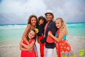 FAMILY PHOTO SHOOTING CANCUN MEXICO AT THE RITZ