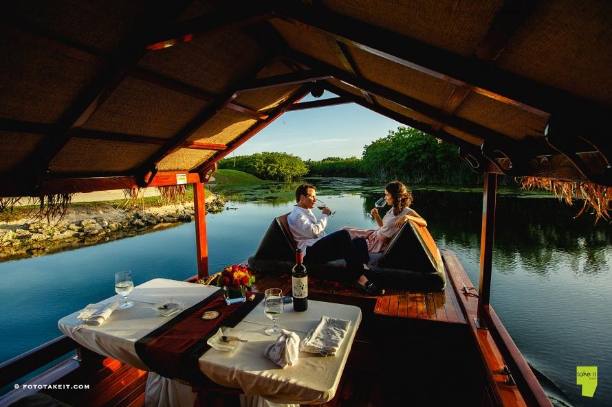Banyan Tree dinner on a boat