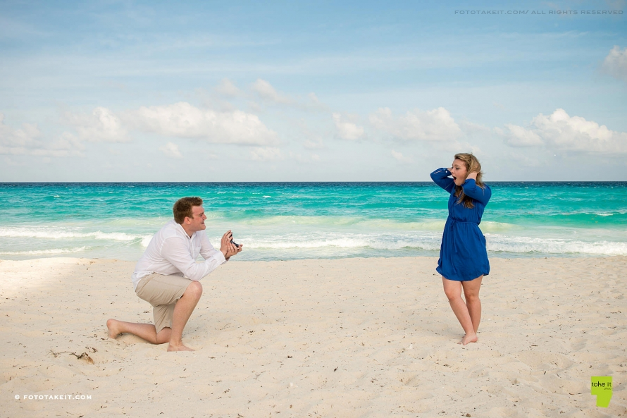 wedding proposal westin cancun